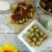 Polpette di pollo con chips di verdure