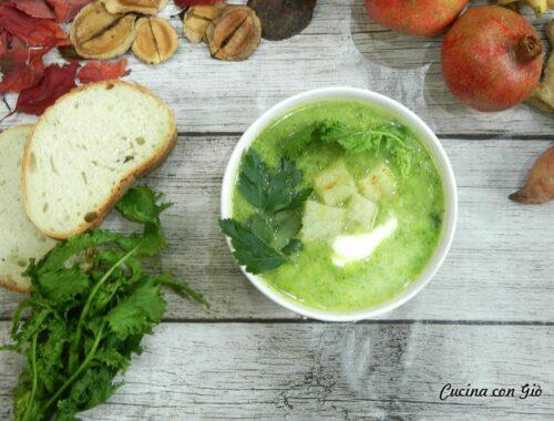 Zuppa di broccoli al latte di cocco