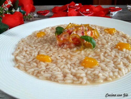 risotto gamberi e passion fruit